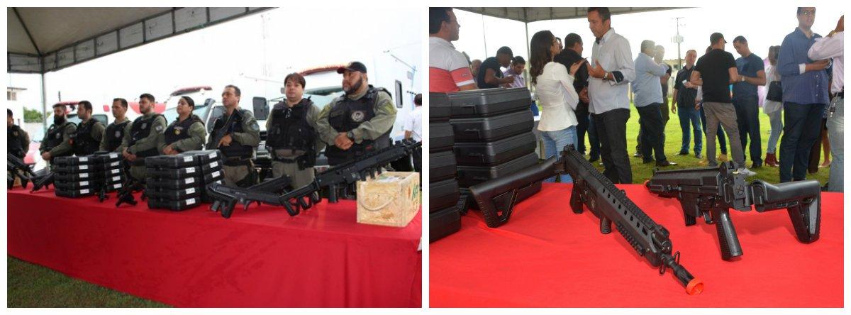 Através da Secretaria de Estado da Ressocialização e Inclusão Social (Seris), o governo de Alagoas entregou, para a segurança nas unidades prisionais, 200 pistolas taurus .40, 30 carabinas imbel calibre 5.52mm, 30 mil munições para armamentos variados, duas ambulâncias e dois caminhões-cela; além das missões ostensivas, cerca de 400 detentos estudam regularmente e outros 700 estão empregados