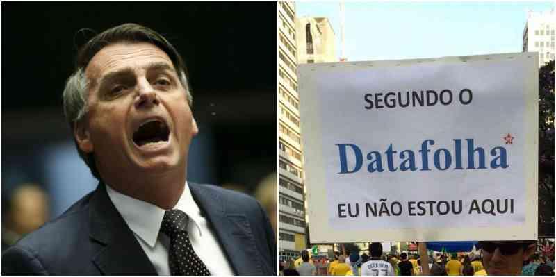 Bolsonaro alega que os questionários do instituto induzem o eleitor a responder o que o jornalão quer como resposta, ou seja, seria uma pesquisa tendenciosa