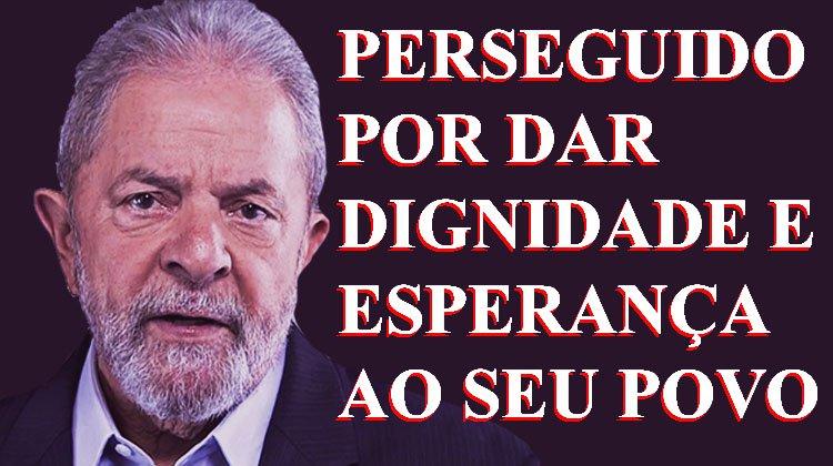 Por gerações, o mundo estudará a história do homem que foi perseguido por dar esperança e dignidade ao povo brasileiro. Tiraram-lhe a paz, os bens, a vida da esposa e querem lhe tirar a liberdade. Mas não poderão tirar o espírito indomável de Luiz Inácio Lula da Silva