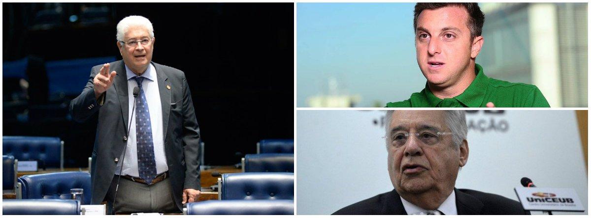 """O senador Roberto Requião (MDB-PR) afirmou que o ex-presidente Fernando Henrique Cardoso teve """"involução senil"""" ao declarar apoio à candidatura do apresentador Luciano Huck à Presidência da República. """"Ele [FHC] não apoiava o Beto Richa?"""", disse no Twitter; """"Por que todo este espanto com FHC apoiando o Huck? Ele não apoiava o Beto Richa? Do Beto para o Huck é pequeno o avanço da involução senil"""""""