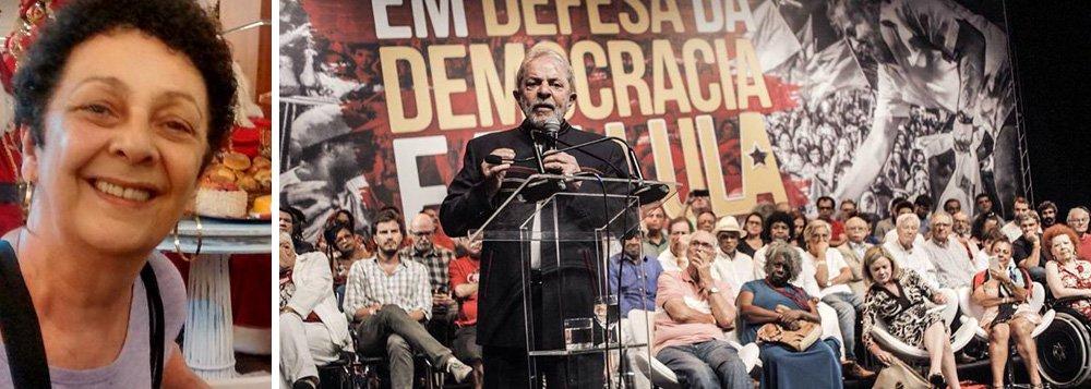 """Graça Lago, filha do ator e compositor Mário Lago (1911-2002), comentou sobre o ato com o ex-presidente Lula, que aconteceu no Teatro Casa Grande, no Rio; """"O discurso de Lula foi memorável. Aos que não ouviram, recomendo que procurem nas redes sociais. É uma carta ao povo brasileiro"""", disse; """"Os 'coxinhas' chamaram um ato contra nós para a porta do teatro. No pico, juntaram umas 50 pessoas, se tanto. Com duas horas, voltaram para as suas casinhas. Como conseguiram, em 2015, juntar tanta gente? O que seriam sem a #Globosta?"""", questiona"""
