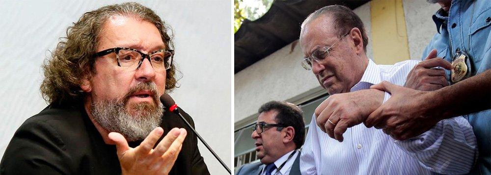 """""""A defesa do Dr. Paulo Maluf sabe que está levantando uma questão que transcende, e muito, o direito do seu constituinte de ter a prisão domiciliar. Quer discutir o direito de todo cidadão com mais de 80 anos a exigir este benefício, salvo se foi condenado por um crime praticado com violência"""", diz o advogado Antônio Carlos de Almeida Castro"""