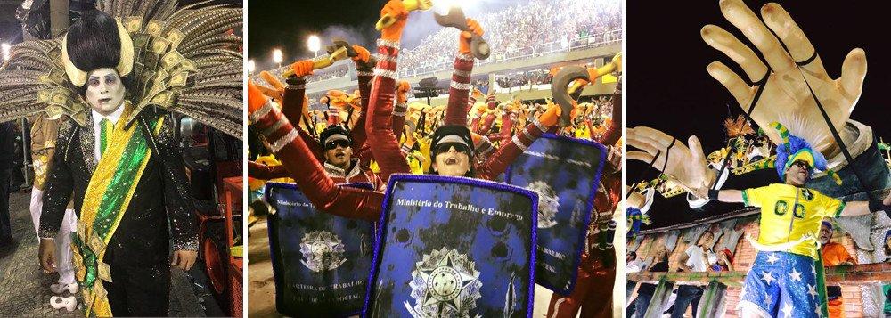 """Declaração é do deputado federal Wadih Damous (PT-RJ), que comentou o histórico vice-campeonato obtido pela Paraíso do Tuiuti no Carnaval do Rio 2018; ele diz que a vitória da escola, que ficou atrás da Beija-Flor por um décimo, foi """"uma derrota da Globo""""; """"O segundo lugar da Tuiuti é uma lição para todos: direita e esquerda. Mostra que podemos e devemos nos insubordinar quando tudo parece perdido. Foi uma vitória do povo e uma derrota da Globo"""", postou no Twitter; os líderes do PT no Senado e na Câmara, Lindbergh Farias e Paulo Pimenta, também celebraram o resultado"""