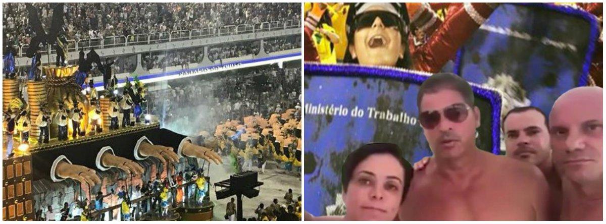 """""""Vem mais 'homenagem' por aí. O professor de históriaLéo Moraes, de 40 anos, pega hoje na lavanderia o terno do """"vampiro-presidente"""" com o qual se consagrou na Sapucaí. O vampiro está confirmado no desfile? Confirmadíssimo. E vai ter uma surpresa"""", diz texto publicado no Blog da Cidadania, de Eduardo Guimarães; """"A surpresa tem a ver com essa mulher que ninguém quer como ministra do Trabalho. A Cristiane Brasil? Isso. O Temer mereceu muito o que fizemos, ainda mais em um momento de briga jurídica por causa de uma ministra que ninguém aceita. Foi um grito de indignação contra a política suja"""""""