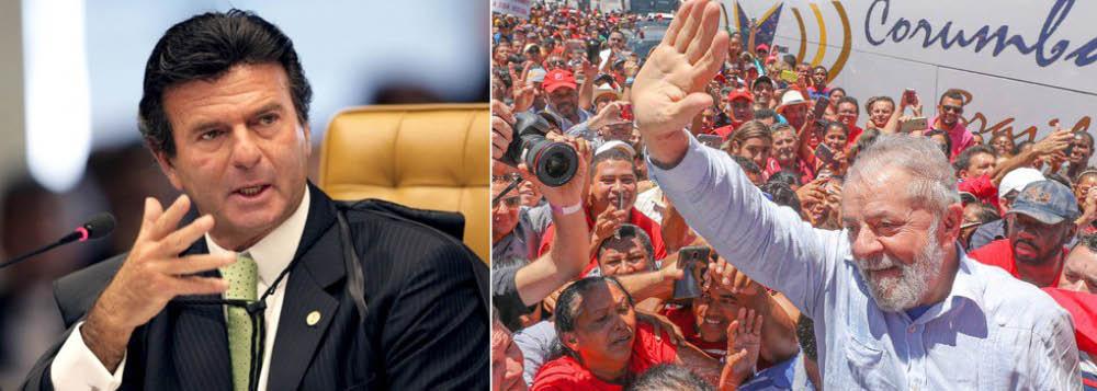 """Presidente do TSE, ministro Luiz Fux, que já afirmou que ficha-sujas são """"irregistráveis"""", em alusão ao ex-presidente Lula, concedeu decisão liminar a um político enquadrado na Lei da Ficha Limpa, suspendendo os efeitos de sua condenação criminal e permitindo que ele concorresse nas eleições municipais de 2016; caso se refere ao registro de candidatura de Vicente Diel, do PSDB, ao cargo de vice-prefeito de São Luiz Gonzaga (RS); """"Determino expedição de ofício ao órgão da Justiça Eleitoral para comunicar a suspensão da condenação contra o autor até o julgamento final desta ação cautelar"""", escreveu Fux no documento"""