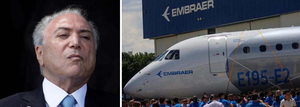 A Embraer entregou um total de 210 jatos em 2017, sendo 101 comerciais e 109 executivos, e fechou o ano com uma carteira de pedidos firmes de 18,3 bilhões de dólares, informou a empresa em comunicado nesta terça-feira; a empresa é alvo de interesse da norte-americana Boeing