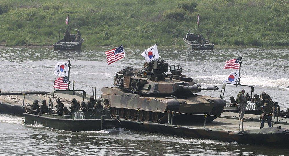 Exercicio de guerra entre EUA e Coreia do Sul