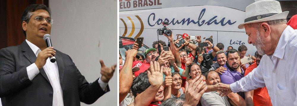 """Em entrevista coletiva no Centro de Estudos da Mídia Alternativa Barão de Itararé, em São Paulo, o governador do Maranhão, Flávio Dino (PCdoB), avalia que os """"julgadores de Lula foram muito passionalizados, pouco sóbrios e pouco comprometidos até mesmo com a aparência de imparcialidade""""; sobre a disputa presidencial, ele defende que """"passada a eleição, não é possível nenhum tipo de reparação a Lula""""; ele ressalta ser uma """"violência privar Lula de sua liberdade"""" e também faz uma crítica indireta ao juiz Sergio Moro: """"O desejo de aparecer em capa de revista, ganhar o prêmio de homem do ano, calcular ações a tempo de sair no Jornal Nacional... são coisas que contaminaram o Judiciário"""""""