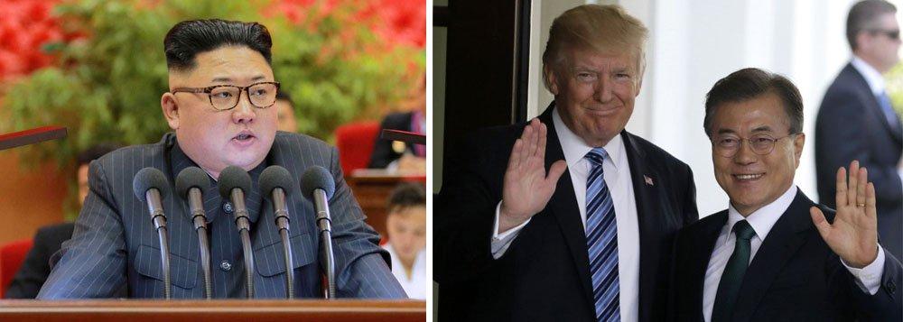 """O governo da Coreia do Norte pediu que a Coreia do Sul abandone as manobras militares com os Estados Unidos, já que considera que estas são """"o fator principal"""" que alimenta a tensão na península coreana e que eleva o risco de guerra; """"Se as autoridades sul-coreanas realmente querem distensão e paz, devem parar todo tipo de ações militares"""", disse o principal jornal norte-coreano,Rodong Sinmun, em um artigo onde afirma que as manobras são o principal foco de tensão e levam a Coreia """"para uma fase perigosa, onde a situação pode ser imprevisível"""""""