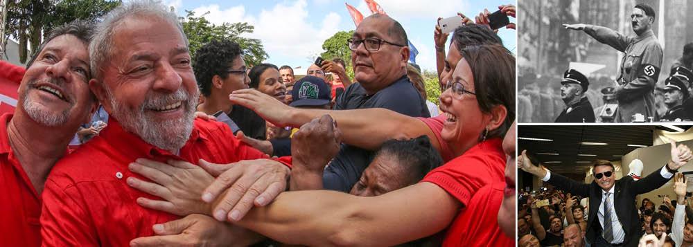 """""""Depois que a deterioração política do país permitiu até o aparecimento de uma candidatura fascista como a de Jair Bolsonaro, está claro que o debate real de 2018 envolve a opção entre reconstrução da democracia ou a consolidação do estado de exceção"""", escreve Paulo Moreira Leite, articulista do 247; criticando a postura do deputado Marcelo Freixo (PSOL-RJ), valorizando as diferenças entre a esquerda, pergunta: """"alguém acredita que este é o debate prioritário no Brasil em 2018?""""; PML recorda que a vitória de Hitler, na Alemanha, é um exemplo clássico de uma derrota produzida pela divisão de partidos ligados a luta dos trabalhadores e da população pobre"""