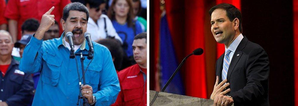 """O senador republicano Marco Rubio pediu que as Forças Armadas venezuelanas se rebelem contra o governo de Nicolás Maduro, em uma série de tweets inflamatórios postados nesta sexta-feira, ecoando algo já endossado pelo secretário de Estado dos Estados Unidos; """"O mundo apoiaria as Forças Armadas em Venezuela, se decidissem proteger as pessoas e restaurar a democracia removendo um ditador"""", escreveu Rubio, senador pelo Estado da Flórida"""