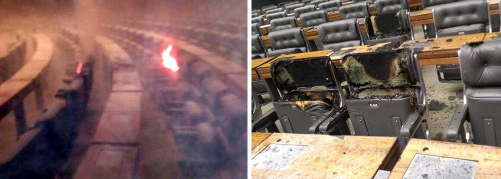 Um princípio de incêndio no plenário da Câmara dos Deputados na manhã de hoje (25) causou a interdição do salão Verde e do Comitê de Imprensa da Casa; a assessoria de impresna da Câmara informou que está apurando o caso e não deu detalhes