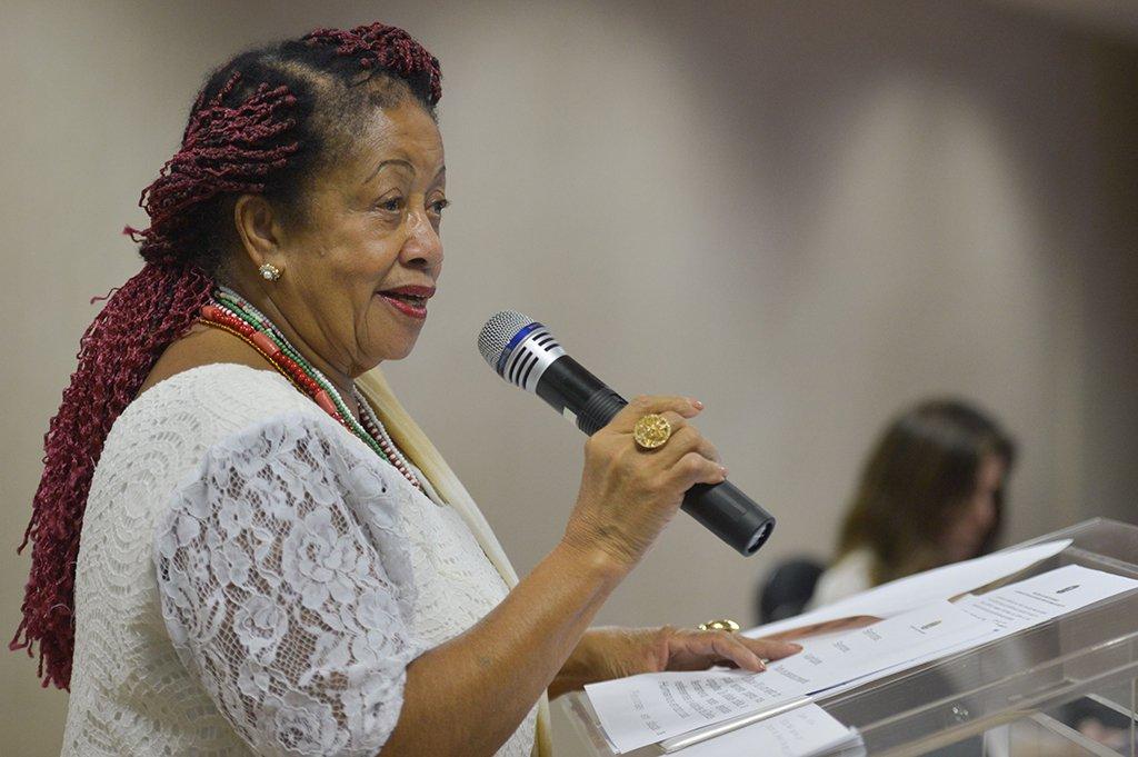 Brasília - A ministra dos Direitos Humanos, Luislinda Valois divulga o balanço do Disque 100, com dados de violações de direitos humanos de todo o país (Marcello Casal Jr./Agência Brasil)