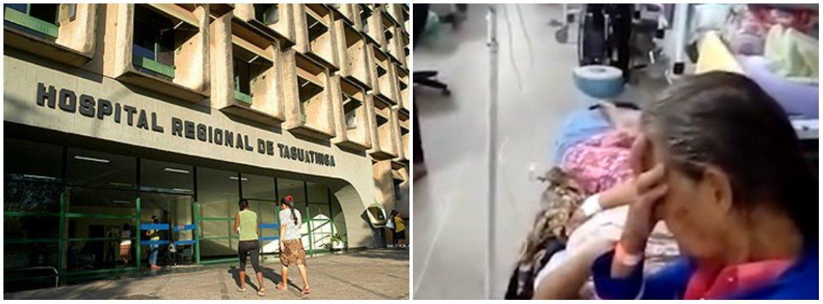 Há três dias, por exemplo, a emergência do Hospital Regional de Taguatinga (HRT) tinha 160 pacientes, mais que odobroda capacidade, de 68 leitos; o HRT é o segundo maior hospital da rede pública de saúde do Distrito Federal e atende uma áreaonde moram 1,5 milhão de pessoas