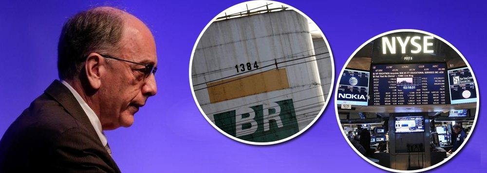 """A bolada de R$ 10 bilhões que Pedro Parente reservou aos acionistas, que ele pretende pagar antes mesmo de qualquer condenação judicial, diz respeito apenas a investidores dos Estados Unidos; a companhia alega que não tem obrigação de indenizar investidores no Brasil; cerca de mil acionistas se reuniram em um processo de arbitragem na Bolsa de São Paulo;Petrobras diz que o acordo """"atende aos melhores interesses da companhia, tendo em vista o risco de um julgamento influenciado por um júri popular (e) as peculiaridades da legislação processual e do mercado de capitais norte-americano"""""""