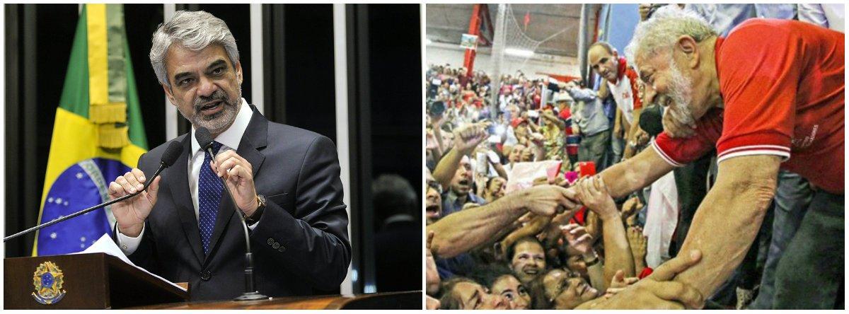 """O líder da Oposição no Senado, Humberto Costa (PT-PE), informou quevai integrar uma delegação do PT que manterá em Bruxelas, do dia 26 deste mês ao dia 2 de março, uma agenda de para encontros com dirigentes da Confederação Sindical Internacional (CSI), ali sediada, e com a Fundação Friedrich Ebert – seção Europa, ligada ao Partido Social-Democrata Alemão; """"Vamos denunciar em todos os foros internacionais possíveis a caçada política promovida contra Lula e a ruptura da ordem democrática no Brasil"""""""