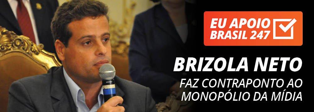 """O vereador do Rio de Janeiro Leonel Brizola Neto, do PSOL, apoia a campanha de assinaturas solidárias do 247. """"É impossível a existência da democracia no nosso País enquanto tivermos esse monopólio da comunicação, que massacra diariamente o povo brasileiro.Por isso a importância de assinarmos, de contribuirmos com sites como o 247, que faz contraponto a este monopólio"""", diz ele; assista ao seu vídeo de apoio"""