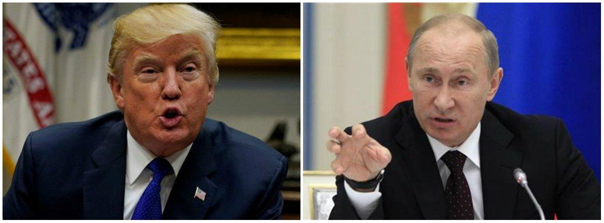 """Os Estados Unidos, presidio por Donald Trump, acusaram os militares do país europeu, do presidente Vladimir Putin, de serem os responsáveis pelo ciberataque """"NotPetya"""" - que atingiu principalmente sites da Ucrânia em junho de 2017; Washington disse por comunicado que o objetivo foi""""desestabilizar a Ucrânia"""" e que haverá """"consequências internacionais"""" causadas pela suposta ação de Moscou; o Reino Unido também acusou a Rússia de ser a responsável pelo NotPetya"""