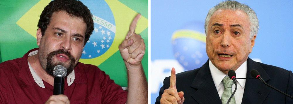 """Coordenador do MTST e possível candidato a presidente pelo PSOL, Guilherme Boulos critica a intervenção militar no Rio de Janeiro e diz que o Exército é treinado para atuar em territórios inimigos; """"Quem são os territórios inimigos? As favelas, as comunidades? A ideia é fazer como propôs Bolsonaro e metralhar a Rocinha?"""", questiona em vídeo; Boulos lembrou também que o Exército ocupou o complexo de favelas da Maré em 2014 e o resultado foi """"desastroso"""". """"O preço para dar uma falsa sensação de segurança para alguns setores da sociedade foram vários mortos e muito sangue"""", diz ele"""