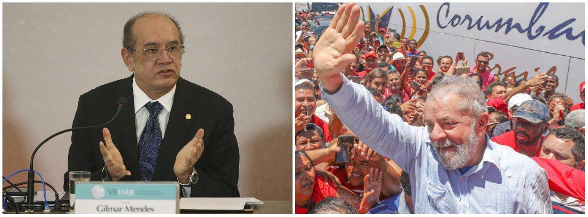 """Ministro do STF Gilmar Mendes comentou sobre o risco de o ex-presidente Lula ser preso caso condenado em segunda instância; """"A questão nem é essa. Se for condenado em segunda instância, pela lei da ficha limpa, Lula fica inelegível. E essa lei, vale lembrar, foi amplamente apoiada pelo governo do PT"""", disse ele, de Lisboa, em Portugal; o STF ainda discute a validade da prisão em segundo grau. """"O juiz [de segunda instância] pode determinar a prisão, mas isso não quer dizer que seja em caráter imperativo"""", afirmou ele, que também criticou as prisões provisórias e defende-as apenas quando houver risco de fuga"""