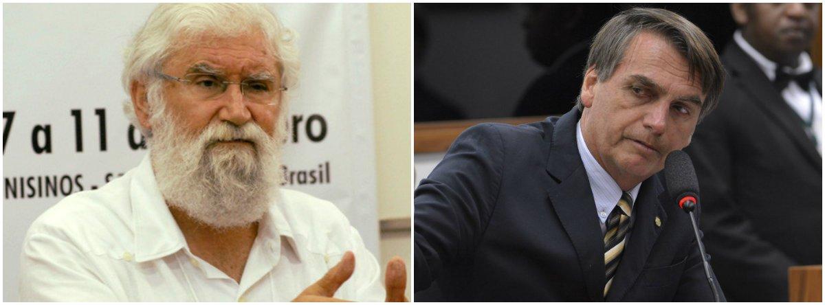 """Em mais uma repercussão contra o discurso feito pelo deputado Jair Bolsonaro (PSL-RJ) a uma plateia de mil executivos do mercado financeiro, na semana passada, quando sugeriu metralhar a Rocinha como solução para acabar com a criminalidade no local, o teólogo e intelectual Leonardo Boff criticou duramente o público que o aplaudiu; para Boff, a reação """"mostra o nível de consciência no mínimo fascitóide de nossas elites do atraso"""""""