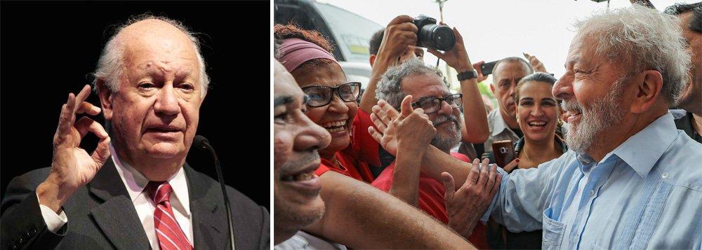"""Com a adesão de Ricardo Lagos, já são cinco ex-presidentes sul-americanos que lançam um grito ao mundo para que a democracia brasileira não seja enterrada de vez no dia 24 próximo, quando acontecerá o julgamento de Lula no TRF4; em seu blog, o ex-presidente chileno ainda destaca a perseguição a Lula; """"Mais do que um julgamento, parece um ato de perseguição política. Lula foi e continua a ser uma figura fundamental para as esperanças do povo brasileiro e um líder no cenário mundial"""", diz Lagos"""