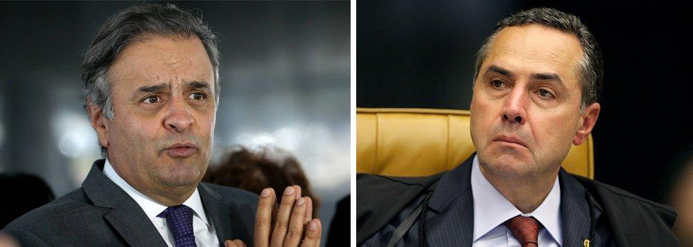 Num dos trechos de sua entrevista à BBC, o ministro Luis Roberto Barroso, do Supremo Tribunal Federal, lamentou a impunidade do senador Aécio Neves (PSDB-MG) e apontou o excesso de provas contra o político mineiro: a gravação, o pedido de dinheiro, a entrega com a mala e até a ameaça de matar o primo; Barroso disse ainda que, dos 650 mil detentos brasileiros, poucos estão presos com tantas provas como havia no caso Aécio; confira