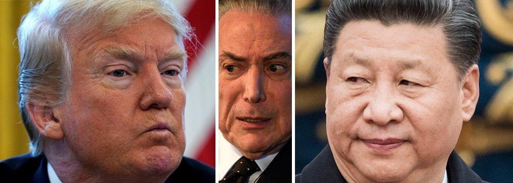 """Com o golpe de 2016, que derrubou a presidente Dilma Rousseff, e de 2018, que pretende cassar os direitos políticos do ex-presidente Lula, o Brasil e a América do Sul se tornaram palco de uma nova disputa imperial entre Estados Unidos e China, as duas maiores potências globais, que tentam assegurar o domínio dos recursos naturais da região; """"Sob a liderança do Brasil, os países sul-americanos vinham construindo uma inserção autônoma e soberana no mundo, sempre no âmbito da Unasul. Agora, reconvertidos em colônias, o Brasil e seus vizinhos terão que buscar formas de se colocar entre os interesses de grandes potências. Eis aí mais um dos grandes retrocessos do golpe"""", aponta Leonardo Attuch, editor do 247"""