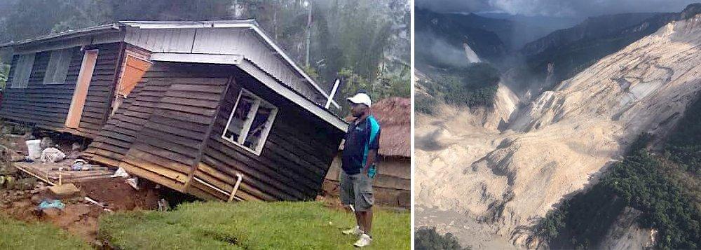Um terremoto de magnitude 6 atingiu nesta quarta-feira o interior de Papua Nova Guiné, dois dias depois que outro, de magnitude 7,5, provocasse na mesma região avalanches que causaram a morte de pelo menos 31 pessoas e deixaram 300 feridos; o Serviço Geológico dos Estados Unidos, que registra a atividade sísmica no mundo, situou o hipocentro do terremoto a 10 quilômetros (km) de profundidade e o localizou a 90 km de Mendi, capital da província das Terras Altas