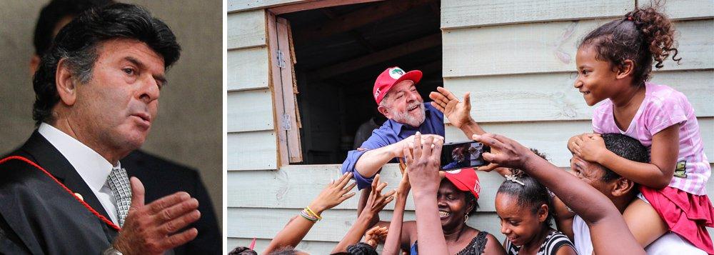 """Lembrando que o novo presidente do TSE, Luiz Fux, ameaçou retirar Lula da campanha presidencial ao dizer que """"Ficha Suja está fora do jogo democrático"""", Paulo Moreira Leite recorda que o mesmo magistrado autorizou auxílio-moradia a 17.000 juízes federais, gerando uma conta anual que poderia chegar a R$ 884 milhões por ano e explica: daria para comprar pelo menos 490 triplex a cada ano ou alugar 15.000 imóveis de bom padrão num bairro nobre de São Paulo; """"Lula parece falar por si quando diz que está velho demais para sentir medo. Na verdade, está falando por todos brasileiros que lutam por democracia e por seu direito de disputar a presidência"""", diz PML"""