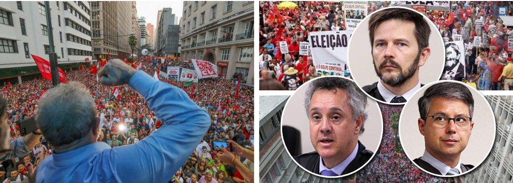 """""""O julgamento recursal do ex-presidente Lula escancarou a extensão da aliança do Judiciário com as outras forças do projeto golpista-conservador, mostrando que ela é orgânica e vai muito além de Sergio Moro e da força-tarefa da Lava Jato"""", avalia a colunista do 247 Tereza Cruvinel; para ela, a unanimidade na condenação e aumento da pena encurtaria o caminho para a prisão de Lula; """"O propósito final não foi apenas o de inabilitar Lula mas também o de impedir que, mesmo fora da disputa, ele se tornasse o grande eleitor, transferindo votos para outro nome do campo progressistas. Preso, estará fora da campanha, estará banido"""""""