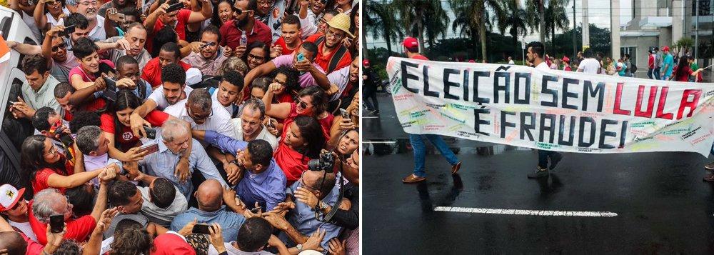"""""""Esta luta se materializa na defesa do direito do Lula disputar a eleição presidencial de 2018, cujo pressuposto é a anulação da farsa judicial da Lava Jato que condenou-o sem provas, num processo manipulado do início ao fim"""", escreve o colunista Jeferson Miola sobre o ex-presidente Lula; segundo ele, é ilusão supor que o eventual banimento do Lula poderá favorecer as demais candidaturas progressistas e de esquerda; """"A elite pretende banir Lula para impedir a restauração democrática e a reconstrução econômica e social de uma nação que está sendo brutalmente devastada pela quadrilha que assaltou o poder"""", afirma"""