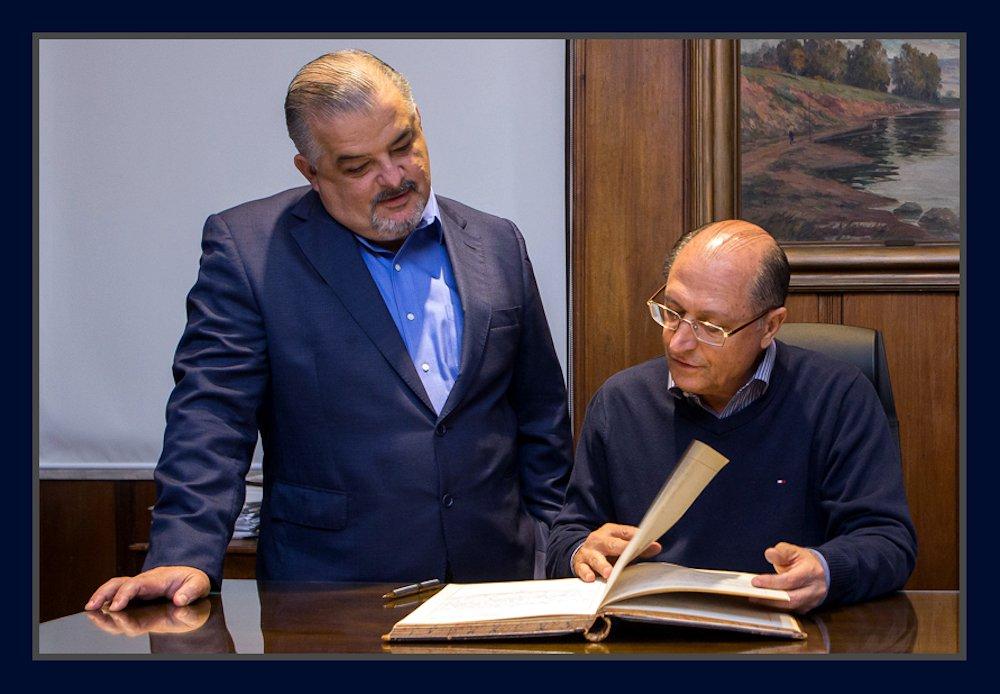 Governador Geraldo Alckmin e o vice Márcio França. Foto: Du Amorim/A2