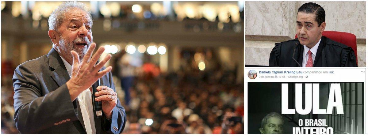 """Depois de o desembargador Carlos Eduardo Thompson Flores Lenz, presidente do Tribunal Regional Federal da 4ª Região (TRF4), ter feito declarações públicas defendendo a sentença do juiz Sergio Moro contra Lula como """"irretocável"""" e """"tecnicamente irrepreensível"""", mesmo sem ter lido a peça, foi a vez da chefe de gabinete do ministro, Daniela Tagliari Kreling Lau, defender a prisão do ex-presidente nas redes sociais; """"O golpe continua em todas as frentes. Resistir é preciso!"""", protestou o deputado Pepe Vargas (PT-RS), que fez a denúncia"""
