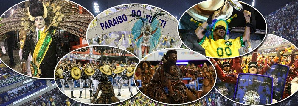 O carnaval de 2018 ensejou um novo e marcante personagem – a Ironia. A Paraíso do Tuiuti conquistou um lugar na História e não somente em relação ao Carnaval, mas também no rol das manifestações de protesto e denúncia feitos com rara inteligência e talento