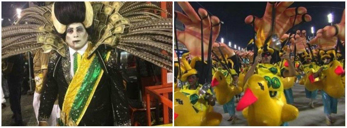 Vice-campeã do carnaval carioca, a Paraíso do Tuiuti voltará a desfilar no próximo sábado. A Globo que só reconheceu Michel Temer retratado como vampiro após 12 horas de muitas críticas e cobranças na mídia alternativa, terá que fazer o sacrifício de ser imparcial ao mostrar de novo a Tuiuti