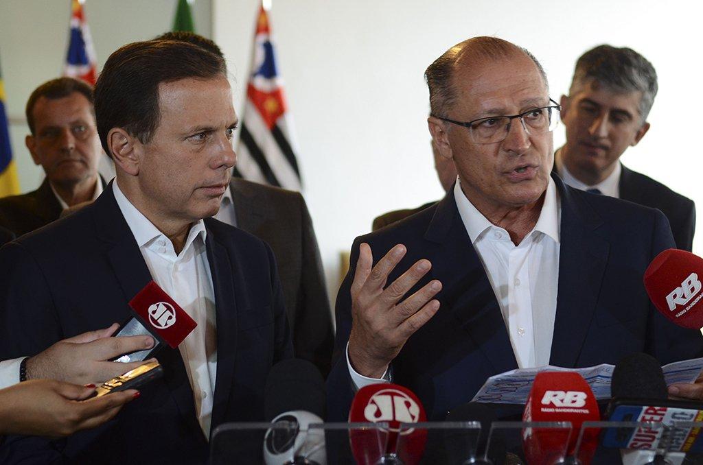 São Paulo - O governador Geraldo Alckmin e o prefeito João Dória reunem secretários do governo e prefeitura em seminário de integração para discutir ações prioritárias e parceirias (Rovena Rosa/Agência Brasil)