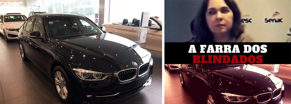A diretora regional do Sesc, Regina Pinho, alugou uma BMW blindada, assim como seu chefe, o interventor Luiz Gastão Bittencourt, que anda de Mercedes-Benz blindada; tudo pago com dinheiro do sistema S