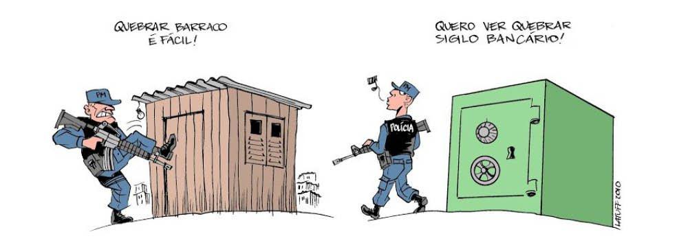 """Chargista Carlos Latuff criticou a intervenção militar na Segurança Pública do Rio de Janeiro. Segundo ele, medidas semelhantes anteriores, esta também não vai adiantar; """"Mandaram Exército e Marinha reprimir o tráfico nas favelas. Não adiantou. Instalaram UPP em favelas para reprimir o tráfico. Não adiantou. Temer autoriza intervenção das forças armadas no Rio. Não vai adiantar! Quem pede Intervenção Militar precisa é de intervenção psiquiátrica!"""", escreveu Latuff em sua página no Twitter, ao compartilhar charge sobre o assunto"""
