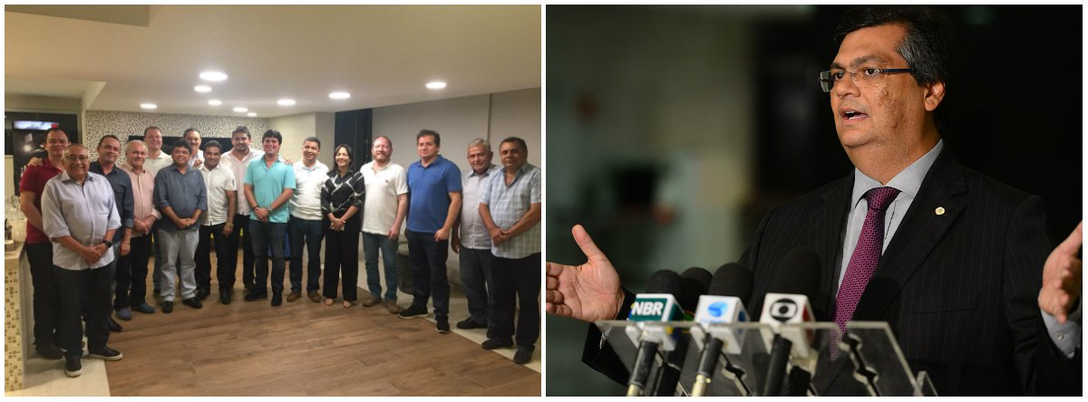 O presidente da Assembleia Legislativa do Maranhão, deputado Othelino Neto (PCdoB), reuniu para um jantar 12 presidentes e representantes de partidos que reiteraram todo apoio à reeleição do governador Flávio Dino (PCdoB); o objetivo do encontro, além de fortalecer a frente partidária em torno do comunista, foi intensificar o diálogo para a definição de um projeto coletivo, visando às disputas majoritária e proporcional nas eleições deste ano; participaram da mesa de diálogos PP, PSB, PPS, PTB, Solidariedade, PROS, PR, PT, PDT, PTC, DEM e PCdoB por meio de presidentes estaduais e representantes partidários