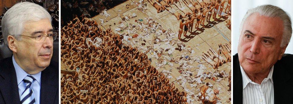 Michel Temer discutiu a criação do Ministério de Segurança Pública, em reunião com ministros e os comandantes da Forças Armadas; nova pasta terá entre outras atribuições cuidar da Polícia Federal e deverá esvaziar as atribuições do Ministério da Justiça, comandado por Torquato Jardim; segundo a jornalista Andreia Sadi, um dos nomes cogitados é o do ex-governador de São Paulo Luiz Antônio Fleury Filho, que autorizou o chamado Massacre do Carandiru, quando a Polícia Militar 111 presos em 2 de outubro de 1992