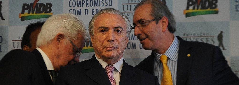 Temer, Cunha e Moreira Franco