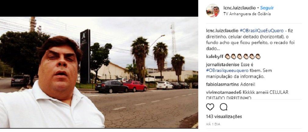 """O telespectador goianiense Luiz Cláudio Cavalcante aderiu à campanha da Globo que estimula cidadãos a gravar vídeos com o próprio celular sobre o Brasil que querem para o futuro; mas a mensagem dele é curiosa. O Brasil que ele quer para o futuro é """"sem a Globo e suas afiliadas""""; Luiz Cláudio afirma que a Vênus platinada e suas filiais servem ao propósito de """"manipular o povo para os seus interesses escusos""""; vídeo foi gravado em frente à sede do Grupo Jaime Câmara, que comanda a TV Anhanguera, afiliada da Globo em Goiás"""