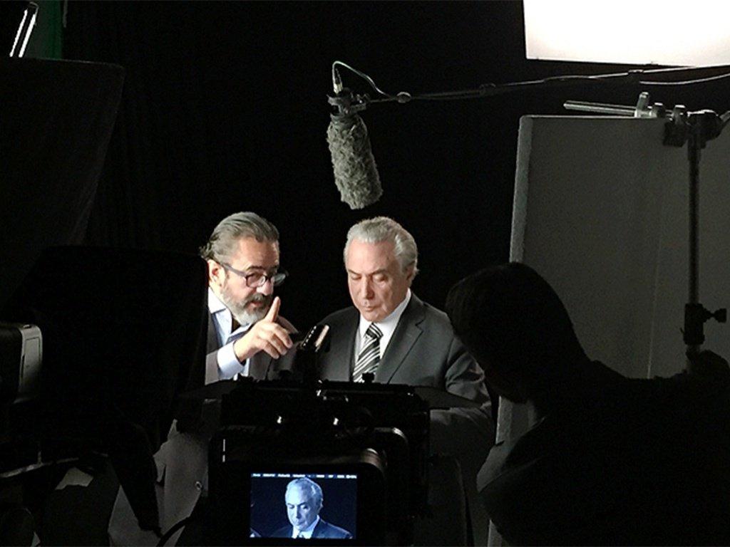 Publicitário e marqueteiro do PMDB, Elsinho Mouco, e Michel Temer