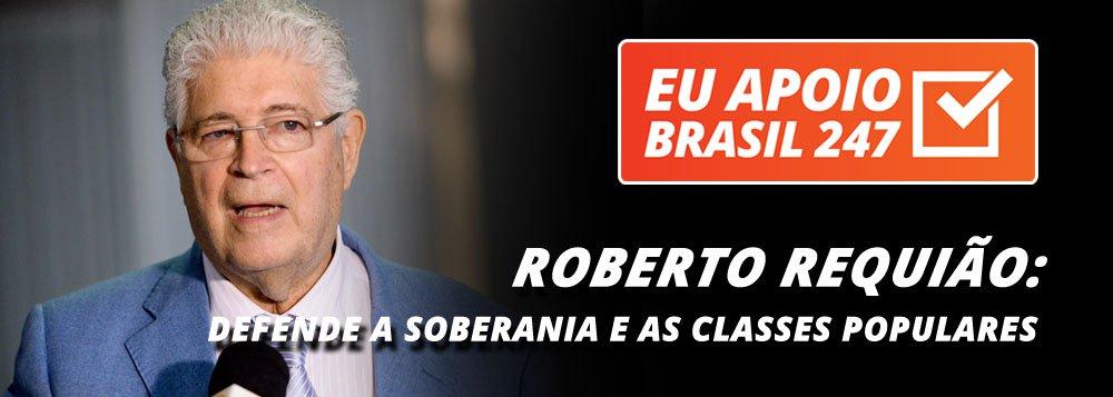 """O senador Roberto Requião (PMDB-PR), apoia a campanha de assinaturas solidárias do 247. """"Num momento como esse, a informação é fundamental e é também fundamental a existência do 247, que defende a soberania, os interesses das classes populares e o desenvolvimento"""", diz ele"""