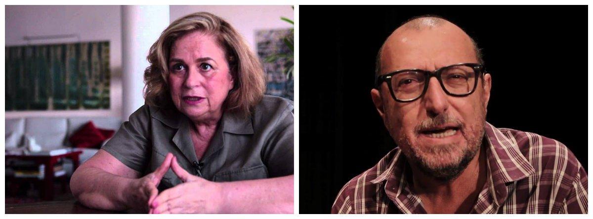 Jornalistas Hildegard Angel e Xico Sá