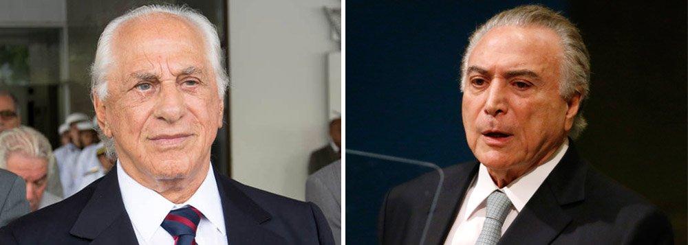 """O advogado José Yunes, ex-assessor de Michel Temer na presidência da República, confessou ter recebido o pacote com o montante em seu escritório em São Paulo das mãos do doleiro Lúcio Funaro, a pedido do hoje ministro da Casa Civil, Eliseu Padilha; """"Pelo relacionamento que tenho, ele (Padilha) pediu essa gentileza para mim"""", disse;""""O que me deixou um pouco atemorizado foi depois que eu passei a saber quem é essa figura do Lúcio Funaro"""", comentou; Yunes disse não saber que se tratava de dinheiro;segundo um delator da Lava Jato, o dinheiro era parte de uma propina de R$ 10 milhões que a Odebrecht repassou a Temer durante a campanha de 2014"""