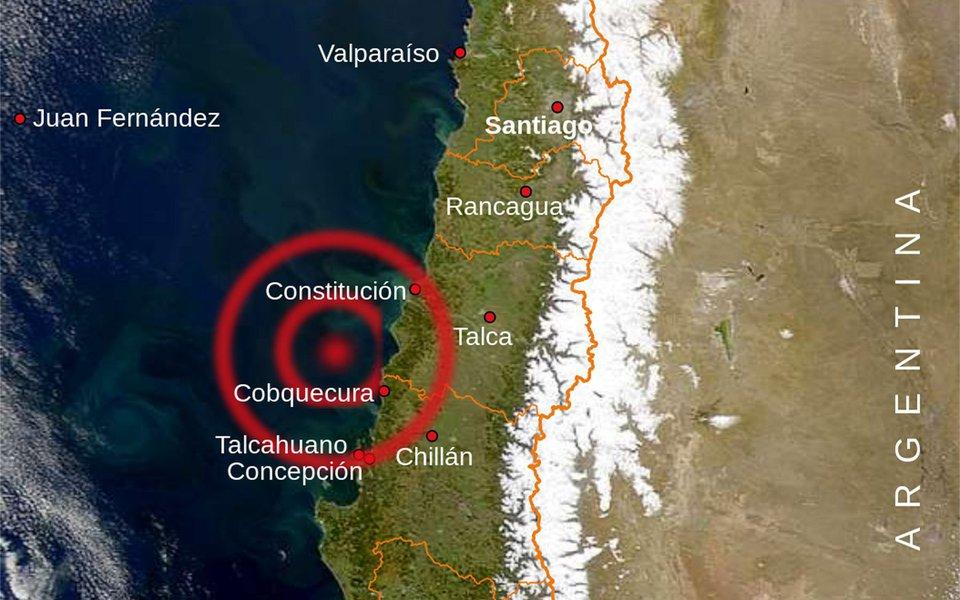 Terremoto de 6,3 graus de magnitude na escala Richter atingiu o Norte do Chile, de acordo com informações divulgadas pelo Serviço Geológico dos Estados Unidos (USGS, a sigla em inglês), sem que as autoridades chilenas tenham informado, por enquanto, sobre vítimas ou dano, aé o momento, foram registradas várias réplicas, a mais forte de 4,6 graus