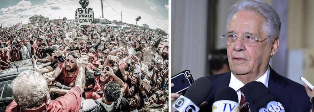 """""""O ex-presidente Fernando Henrique Cardoso, depois de permanecer algum tempo submerso para distanciar-se do seu pupilo Aécio Neves que enfrenta problemas com a Justiça, reapareceu expondo toda a sua enorme dor-de-cotovelo com a liderança de Lula que, apesar do massacre midiático e da perseguição da Lava-Jato, cresce na preferência do eleitorado para voltar à Presidência da República em 2018, conforme atestam as pesquisas de intenção de votos"""", diz o colunista Ribamar Fonseca; """"FHC debocha da inteligência do povo, que sabe exatamente o que ele fez e, também, o que Lula fez, o que facilita a comparação. O povo, afinal, sabe que Lula não tem fazenda, nem apartamentos em Paris, Nova York e na capital paulista"""""""