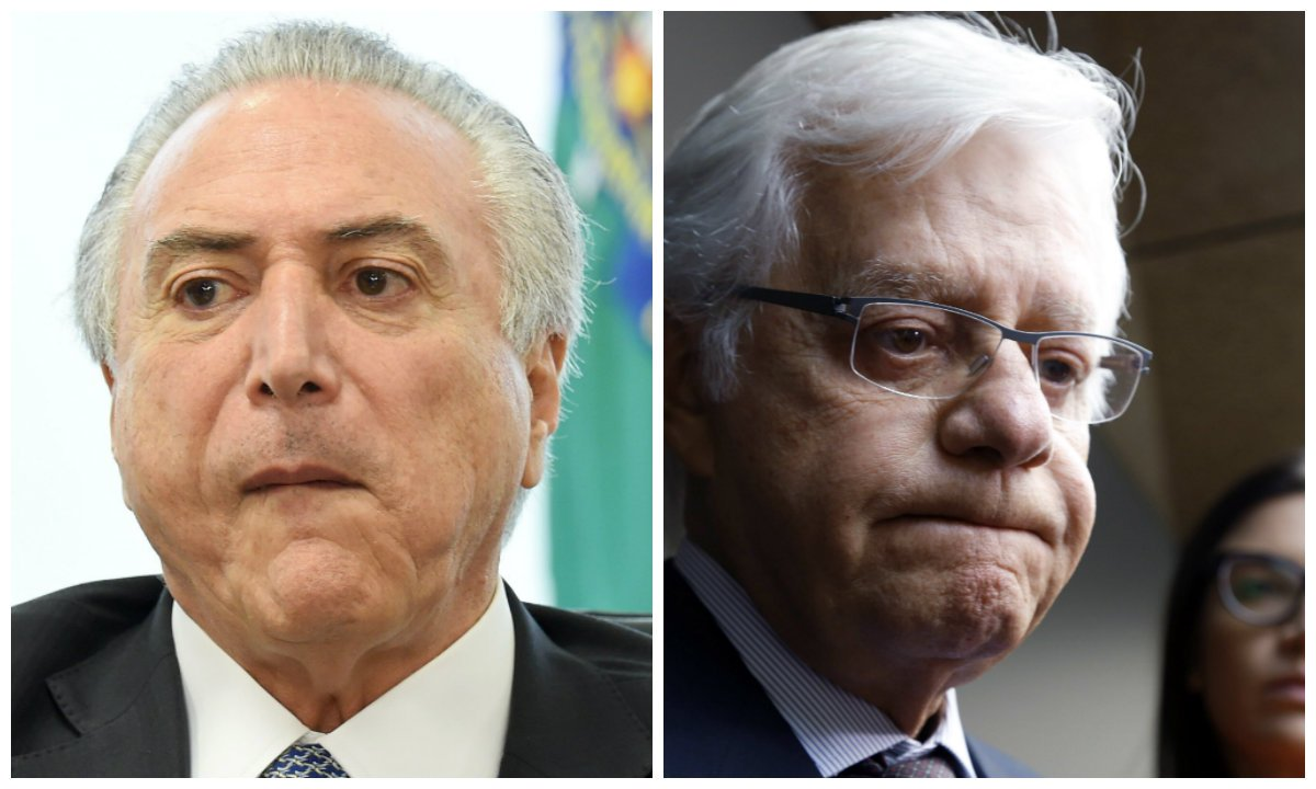 Michel Temer e ministro da Secretaria Geral da Presidência da República, Moreira Franco
